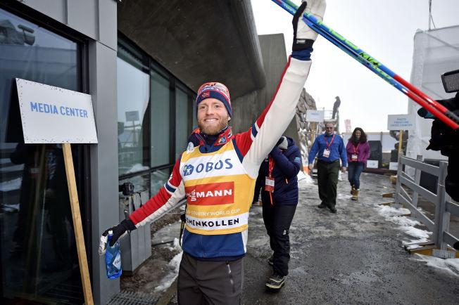 TENKER PÅ VM: Martin Johnsrud Sundby, her etter seieren på femmila i Kollen sist helg.