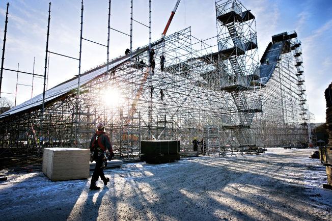 <p>FALLHØYDE: Det 57 meter høye hoppet til Big Air-konkurransen under X Games Oslo er på god vei til å bli klart, men Norges Skiforbund og arrangør TV 2 er ikke enige. Nå brytes samarbeidet.</p>