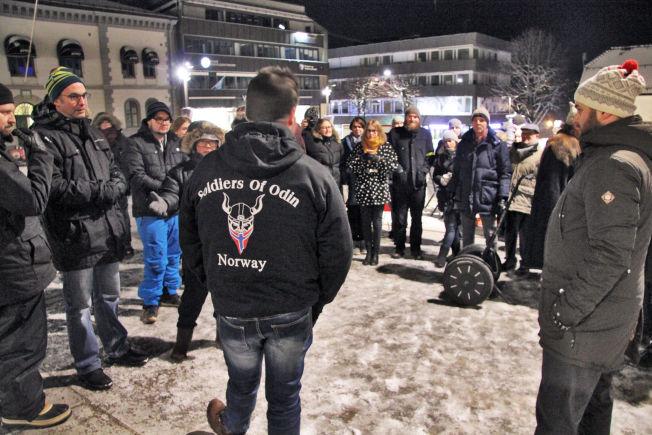 <p>PUBLISITET: Ronny Alte forsøkte å forsvare hvorfor «Soldiers of Odin» skulle patruljere i Tønsberg. Han synes ikke «Allaahs soldater» bør patruljere i Oslo.</p>