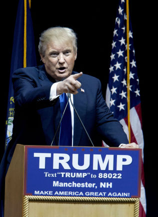 <p>PRESIDENTKANDIDAT: Donald Trump.</p>