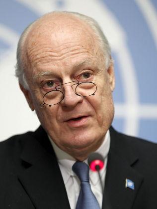 <p>OPTIMIST: FNs spesialutsending for Syria Staffan de Mistura.</p>