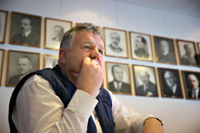 <p>HETT PÅ TINGET: Generalsekretær i NFF Kjetil Siem under et intervju med VG i dagene før fotballtinget.</p>