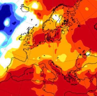 <p>KJØLIG HAV: Vår-varselet fra Det europeiske værsenteret har kjøligere løsning for deler av Europa enn IRI, men gir varmt signal for Nord-Norge, Sør-Sverige og Danmark.</p>
