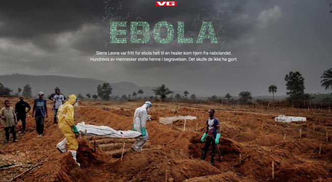 Ebola - skjermbilde VG Spesial om Ebola.