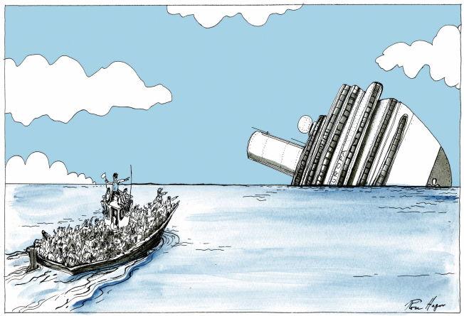 <p>I farlig farvann flykter hundretusener mot Europa.</p>
