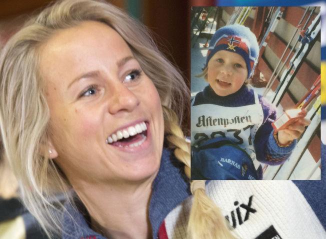 <p>FRA TRIUMF TIL TRIUMF: Da Tiril Eckhoff gikk sitt aller første skirenn, så hun ut som på bildet som er innfelt. Nå er hun landslagsløper, og skal kjempe om verdensmestertitler.</p>