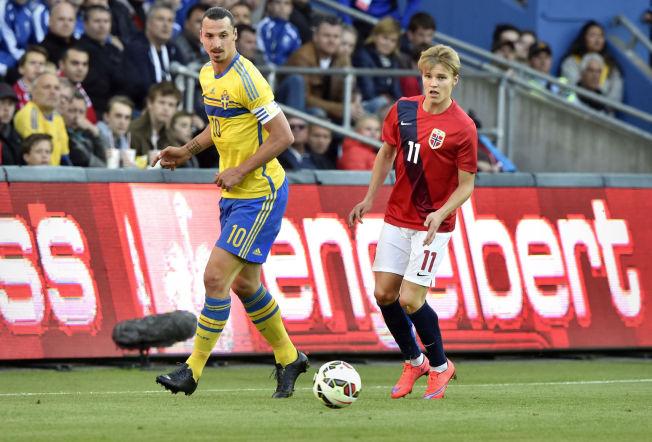 <p>EM PÅ ULLEVAAL?: EM-sluttspillet glapp for Norge i 2016. Men i 2024 eller 2028 kan det bli EM-fotball på Ullevaal stadion dersom de nordiske fotballforbundene får det som de vil. På bildet er Zlatan Ibrahimovic og Martin Ødegaard under en treningskamp i fjor.</p>