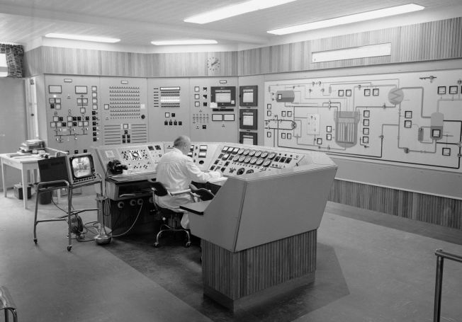 <p>LOVSTRIDIG EKSPORT: Atomreaktoren i Halden ble bygget i perioden 1955 til 1958 av daværende Institutt for Atomenergi, nå Institutt for Energiteknikk, IFE. Reaktoren ble bygget som en forsøksreaktor. Bildet er fra kontrollrommet i 1958.</p>