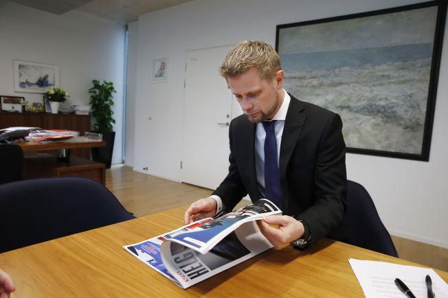 <p>PREGET: Helseminister Bent Høie var før VGs reportasje ikke kjent med saken der en kvinne har vært beltelagt hele eller deler av døgnet i to år.</p>