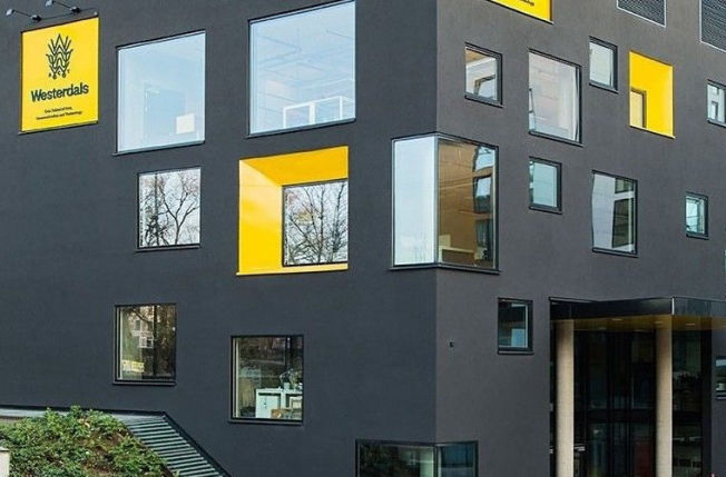 <p>MODERNE SKOLEBYGG: Westerdals privatskole holder hus på Grünerløkka i Oslo.</p>