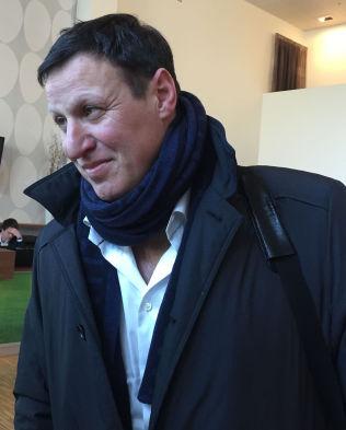LITE IMPONERT: Tom Tvedt og NIF-ledelsen mener søknaden fra Team Brækhus ikke holder mål. Her er idrettspresidenten avbildet på fotballtinget i slutten av februar.