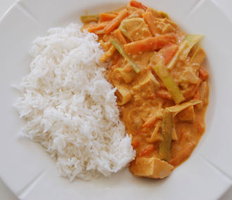 TINE Thai red curry ferdig