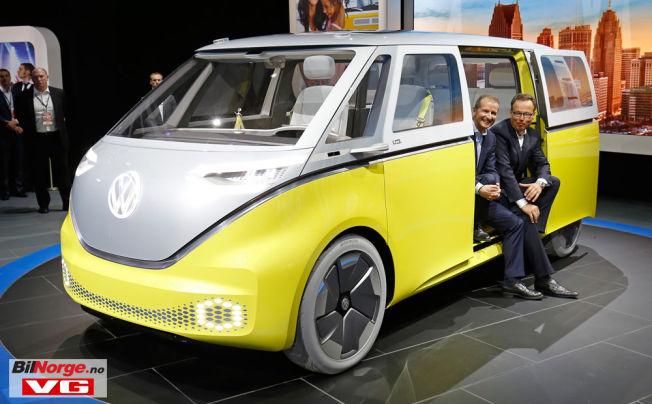 <p/> <p>I.D. BUZZ: Volkswagen har vært i hardt vær de siste årene, men nå er det full satsing på elektriske biler fremover. Her er i I.D. Buzz.</p>