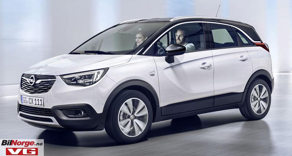 <p>KOMPAKT: Crossland X er en av mange nye Opel-modeller som skal på markedet i 2017. Den blir minstemann i Opels SUV-familie og en konkurrent til populære Mazda CX-3.</p>