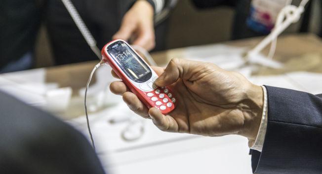 <p>FARGERIK: 2017-utgaven av Nokia 3310 kommer i en drøss av forskjellige friske farger.</p>