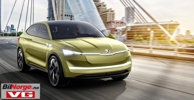 Slik ser Skoda for seg at deres elbil kan se ut. En produksjonsklar modell skal lanseres i 2020.