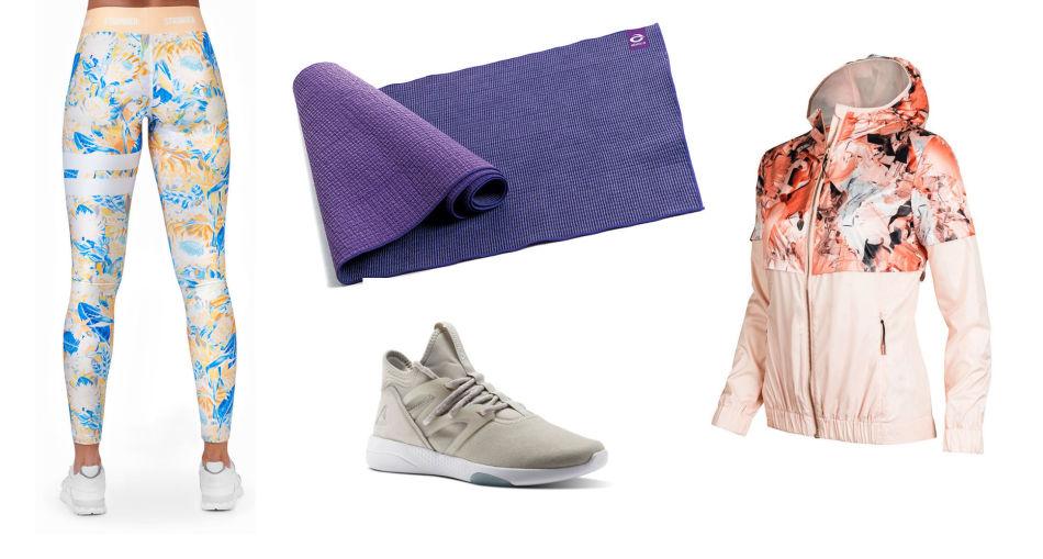415ba1dd Klær som motiverer: Tights fra Stronger (699 kr), yogamatte fra Abilica  (599 kr), sko fra Reebok (1099 kr) og løpejakke fra Johaug (1299 kr).