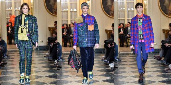 ab8acb82 CHECK: Donatella Versace lot fargerike ruter være et gjennomgangstema i  høstens kolleksjon. Det britiske