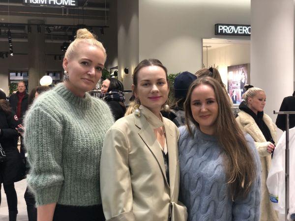 bb03fa2a DESIGNERE: Marte Krogh, Cathrine Børter og Edda Gimnes var i butikken på  åpningsdagen og