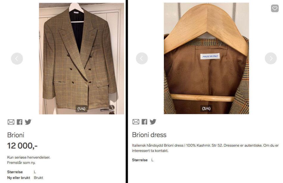 5efc2cd3 SELGES PÅ NETT: Flere av Røkkes luksus-dresser har i etterkant av Fretex-