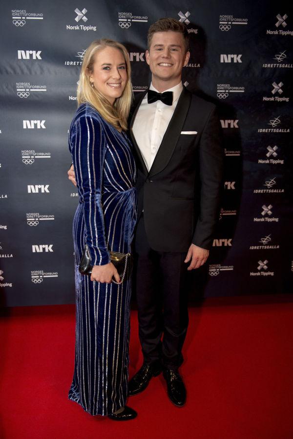 5339e105 ELEGANT: Nicolay Ramm sammen med kjæresten Josephine Leine Granlie.  Josephine i en lang,