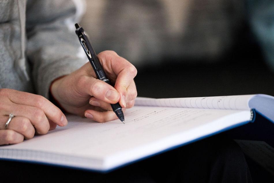 NOTER  Skriv ned treningsøktene dine og bruk dem til å se progresjon. Foto   Simen Øyen. 9d7d78869d07d