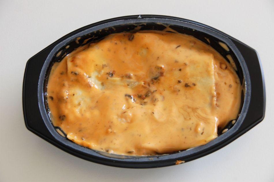 Lasagne i skål ferdig