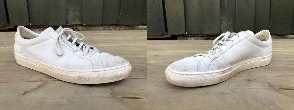 df7573a5 UTGANGSPUNKTET: Slik så våre sko ut etter ett års bruk. Foto: Sverre Norberg