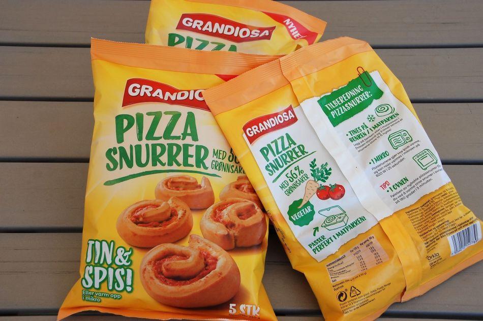 Pizzasnurrer pakker