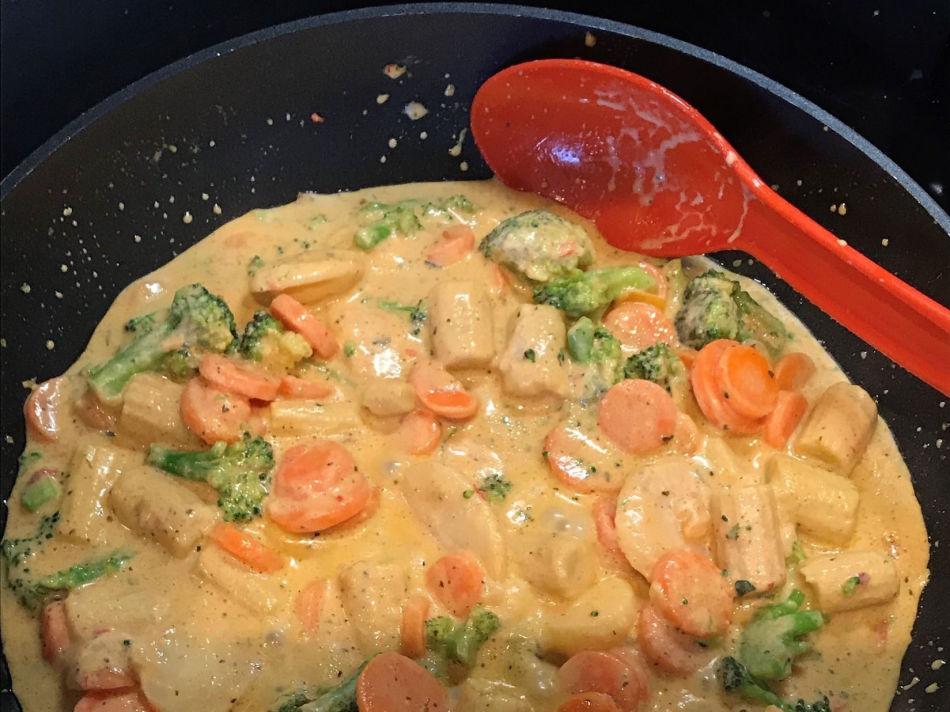 Findus wok i panna oppvarmet